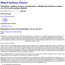 Entreprise 2.0 ou social business, on en est où ?