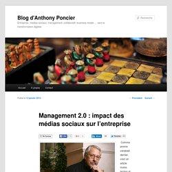 Management 2.0 : impact des médias sociaux sur l'entreprise