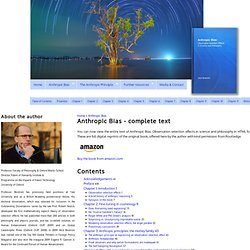 Anthropic Bias - complete text