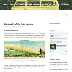 ENTITLE blog – a collaborative writing project on Political Ecology
