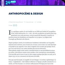 Anthropocène & Design
