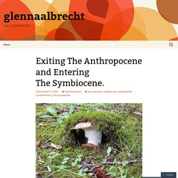Exiting The Anthropocene and Entering The Symbiocene.