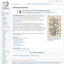 Anthropocentrisme