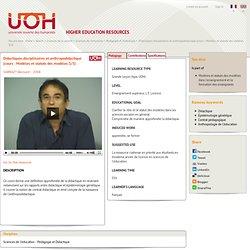 Didactiques disciplinaires et anthropodidactique (cours : Modèles et statuts des modèles 3/3)