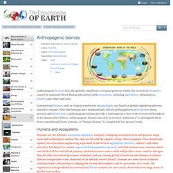 Anthropogenic biomes - Encyclopedia of Earth