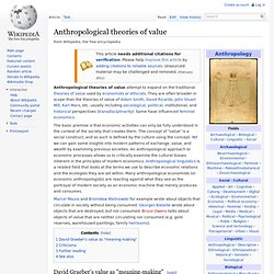 Anthropological theories of value