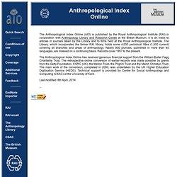 Anthropological Index Online