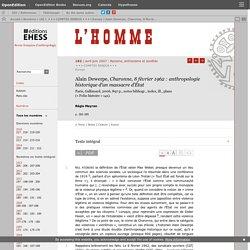 Charonne, 8février 1962: anthropologie historique d'un massacre d'État