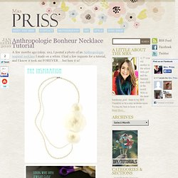 Anthropologie Bonheur Necklace Tutorial