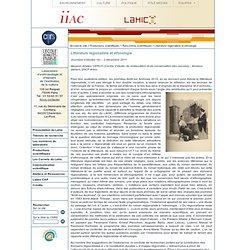 institution de la culture - Littérature régionaliste et ethnologie