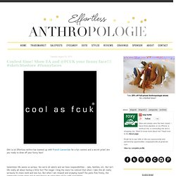 Effortless Anthropologie: Contest time! Show EA and @FCUK your funny face!!! #sketchtostore #funnyfaces