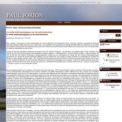 La vérité (anthropologique) sur les extra-terrestres - - Site Internet et blogs de Paul Jorion