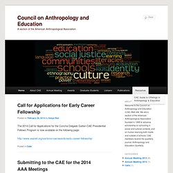 Council on Anthropology and Education | A section of the American Anthropological Association
