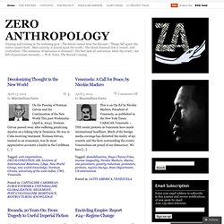ZERO ANTHROPOLOGY