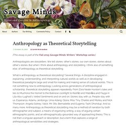 Anthropology as Theoretical Storytelling