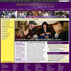 Anthropology Department – Minnesota State University, Mankato