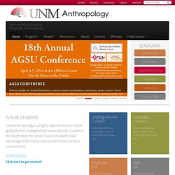 Department of Anthropology at The University of New Mexico