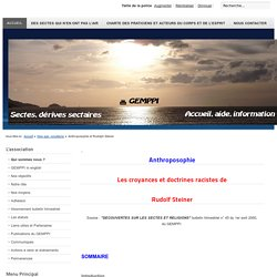 Le site du GEMPPI - Anthroposophie et Rudolph Steiner