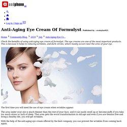 Anti-Aging Eye Cream Of Formulyst