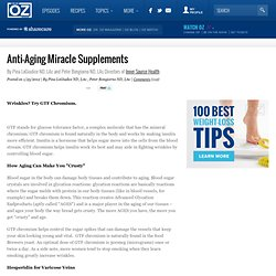 Anti-Aging Miracle Supplements