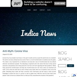 Anti-Myth: Corona Virus
