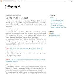 Anti-plagiat: Les différents types de plagiat