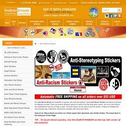 Anti-Racist Stickers