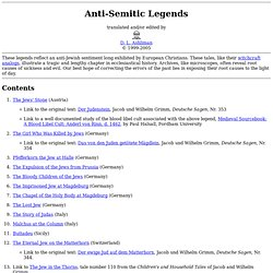 Anti-Semitic Legends