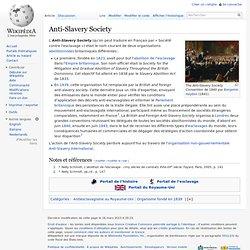 1823ancêtre del'Anti Slavery Society