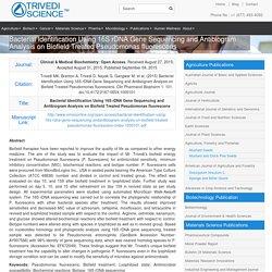 Mahendra Trivedi Biofield Treated Pseudomonas fluorescens
