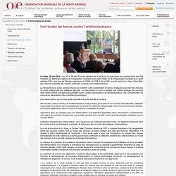 OIE 26/06/14 Unir toutes les forces contre l'antibiorésistance