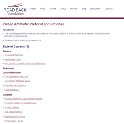 Pulsed Antibiotic Protocol and Rationale - Road Back Foundation