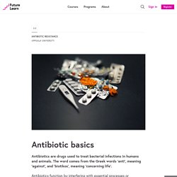 Antibiotic basics - Antibiotic Resistance - Uppsala University