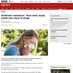 Antibiotic resistance: 'Snot wars' study yields new class of drugs