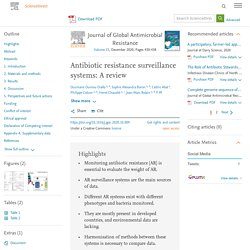 Journal of Global Antimicrobial Resistance Volume 23, December 2020, Antibiotic resistance surveillance systems: A review (Etude de l'IHU de Marseille)