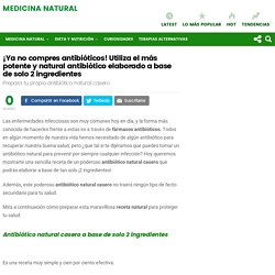 Antibiótico natural casero a base de solo ¡2 INGREDIENTES!