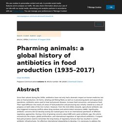 NATURE 07/08/18 Pharming animals: a global history of antibiotics in food production (1935–2017)