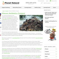 Manure, Antibiotics, Compost | Planet Natural