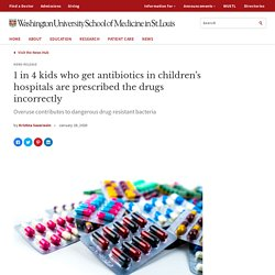 1 in 4 kids who get antibiotics in children's hospitals are prescribed the drugs incorrectly