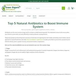 Top 5 Natural Antibiotics to Boost Immune System – Green Organic Supplements