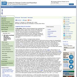 CDC EID – DEC 2011 - Rift Valley and West Nile Virus Antibodies in Camels, North Africa