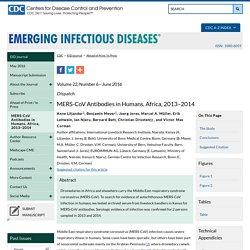 CDC EID - JUNE 2016 - MERS-CoV Antibodies in Humans, Africa, 2013–2014
