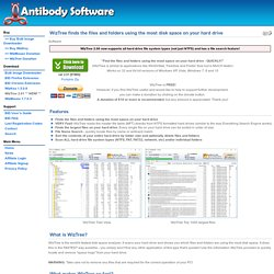 Antibody Software - WizTree finds the files and folders using the most disk space on your hard drive