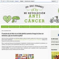 Mis Recetas Anticáncer: El consumo de una dieta rica en ácido palmítico aumenta el riesgo de cáncer con metástasis. ¡Ojo con el aceite de palma!