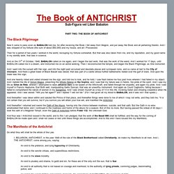 The Book of ANTICHRIST - Sub-Figura vel Liber Babalon