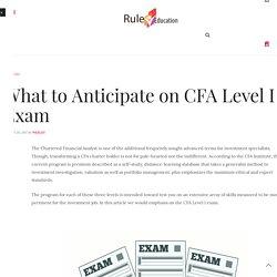 CFA Level I Exam