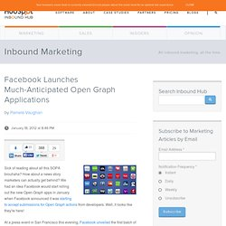 Facebook Launches Much-Anticipated Open Graph Applications