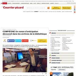 COMPIÈGNE Un roman d'anticipation découvert dans les archives de la bibliothèque - Compiègne et environs