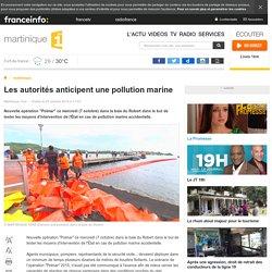 Les autorités anticipent une pollution marine - martinique 1ère