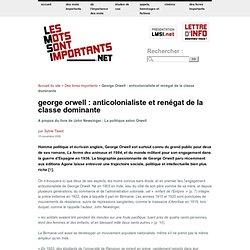 George Orwell : anticolonialiste et renégat de la classe dominante